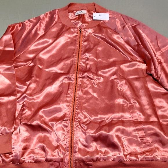 Adorable set of Ladies Satin Varsity style jackets